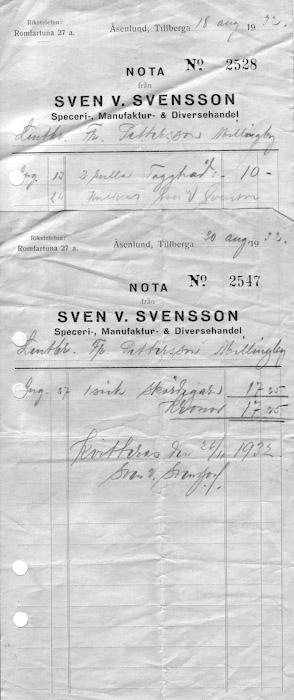 Kvitto Åsenlund
